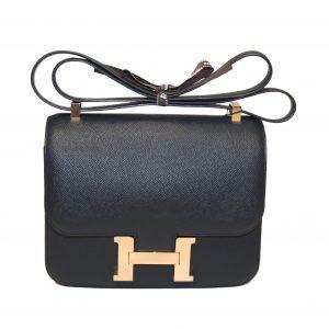 Hermès Constance 24 Epsom Blue Indigo Rosegold Hardware