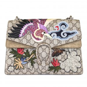 GUCCI Dionysus Bird Embroidered Bag