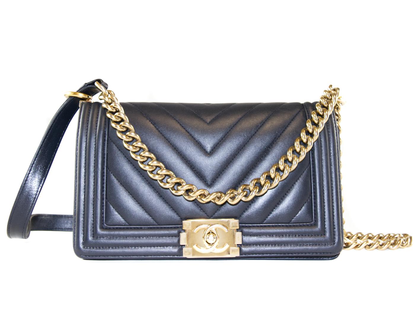 restored Chanel Boy Bag medium calf leather